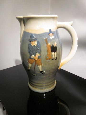A Royal Doulton Queensware golfing jug circa 1935