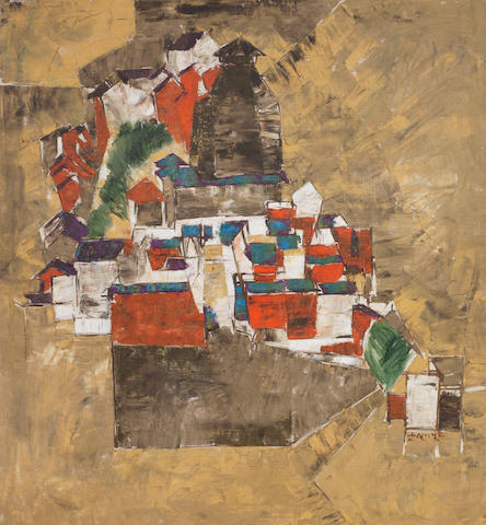 Shiavax Chavda (India, 1914-1990) Untitled (Townscape),