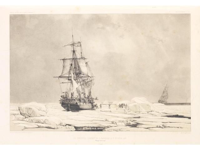 DUMONT D'URVILLE (JULES S. C.) Voyage au Pole Sud et dan l'Océanie sur les corvettes l'Astrolabe et la Zélée, exécuté par ordre du Roi pendant les années 1837-1838-1839-1840, sous le Commandement de M.J. Dumont d'Urville, Capitaine de vaisseau, 23 vol. in 12, Paris, Gide et J. Baudry, 1842-1855