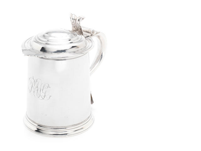 A Queen Anne silver tankard, by Thomas Holland, London 1709,