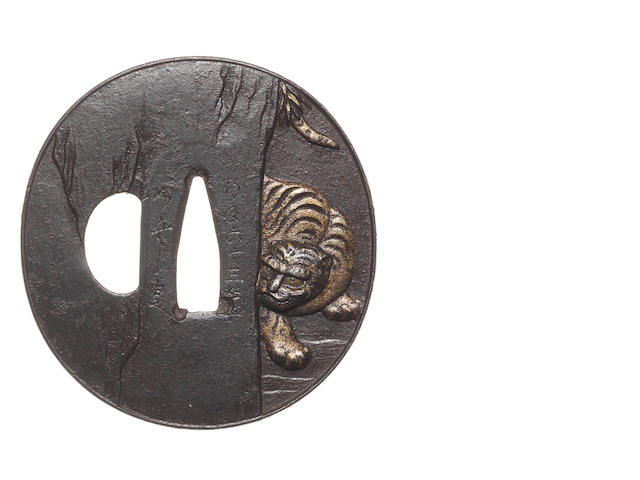 An iron tsuba Murakami School, late 18th/early 19th century