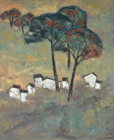 B. Prabha (Indian, 1933-2001) Landscape,