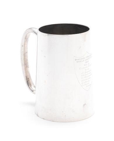 A Chinese Export silver mug, by Hung Chong, Shanghai, circa 1900,