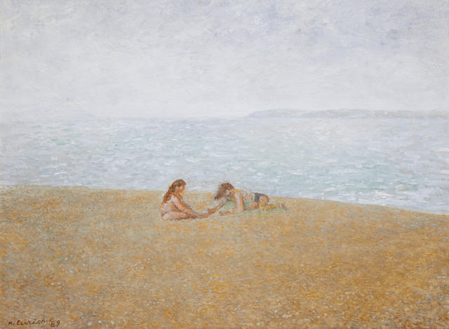 Richard Eurich A.R.A. (British, 1903-1992) Brother and sister