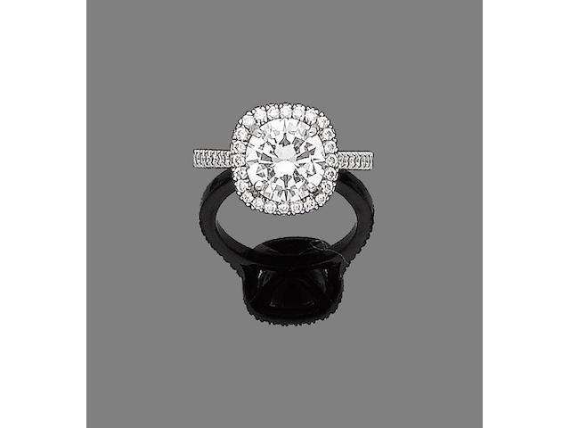 A diamond single-stone ring,  by Boodles