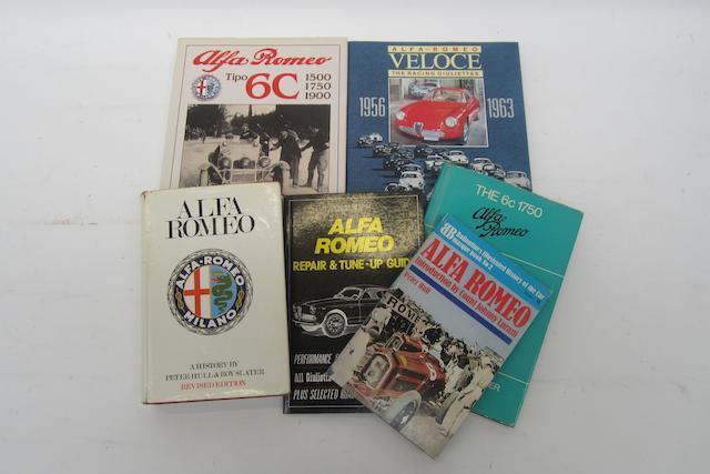 Six Alfa Romeo books,
