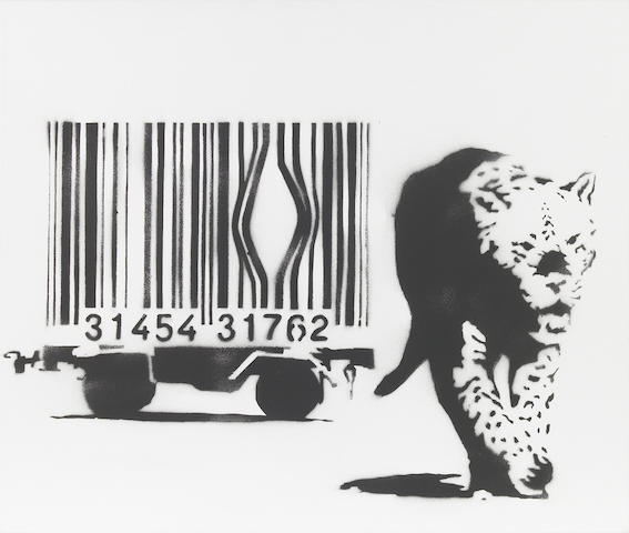 Banksy (b. 1975) Leopard and Barcode