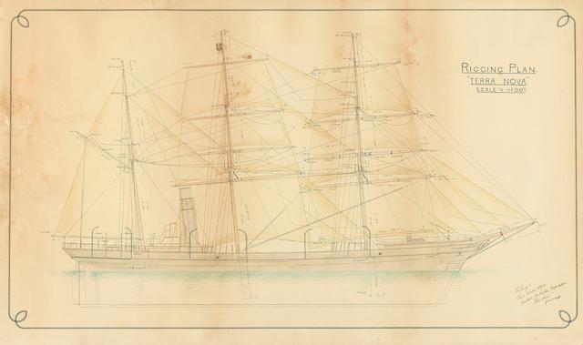TERRA NOVA - Rigging plan, [c.1910]