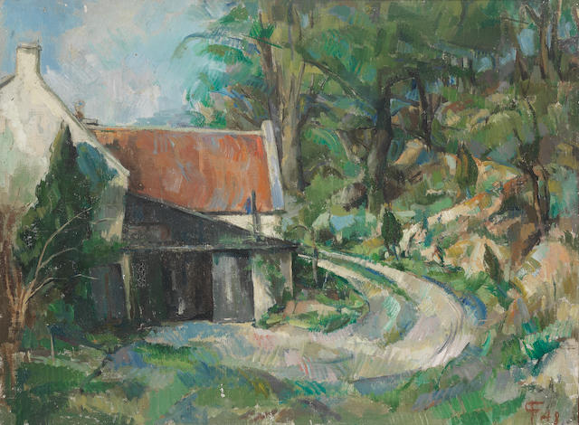 Paul Feiler (British, born 1918) The Cottage, Dundry 44 x 59.5 cm. (17 3/8 x 23 3/8 in.)