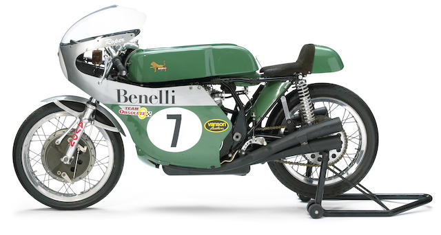 Ex-Team Obsolete Products, LTD,1998 Benelli 350cc Morbidelli-Beale Retro Racing Motorcycle Engine no. N.6