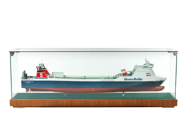 A Builder's style concept model of a Stena Line RoRo commercial ferry Stena 4 Runner Mk ll 86x17x29.5ins. (219x43x75cm)