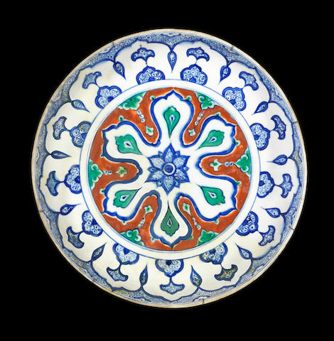 An Iznik polychrome pottery Dish Turkey, circa 1590