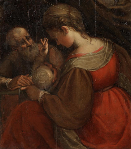 Studio of Ferrau Fenzoni (Faenza 1562-1645 Rome) The Holy Family