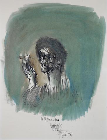 Sadequain (Pakistan, 1937-1987) Untitled (Self Portrait),