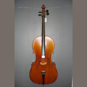 A small sized Mittenwald Cello, circa 1900  (2)