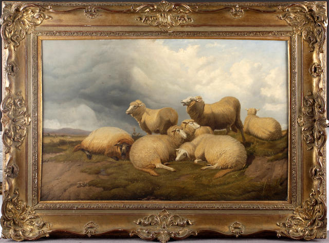 Follower of Thomas Sidney Cooper, RA (British, 1803-1902) Landscape with sheep