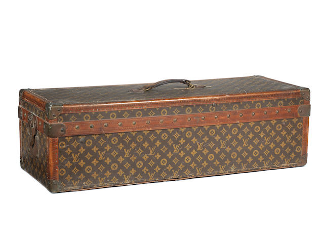 A Louis Vuitton Encyclopaedia Britannica library trunk, 1911,
