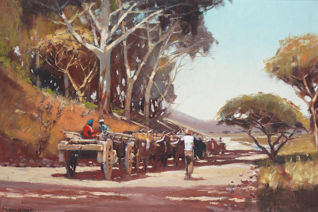 Adriaan Hendrik Boshoff (South African, 1935-2007) Ox cart