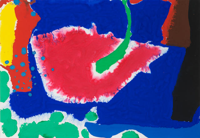 Patrick Heron (British, 1920-1999) November 7 1983 34.5 x 50 cm. (13 5/8 x 19 3/4 in.)