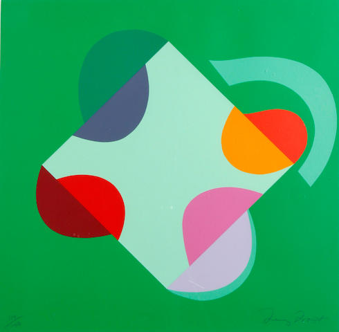 Sir Terry Frost R.A. (British, 1915-2003) Development of a Square within a Square (Green)(Kemp 202) Screenprint in colours, 2000, on heavy wove, signed and numbered 119/150 in pencil, printed by Coriander Studio, London, published by CCA Galleries, Tilford,  the full sheet printed to the edges, 585 x 585mm (23 x 23in)(SH)