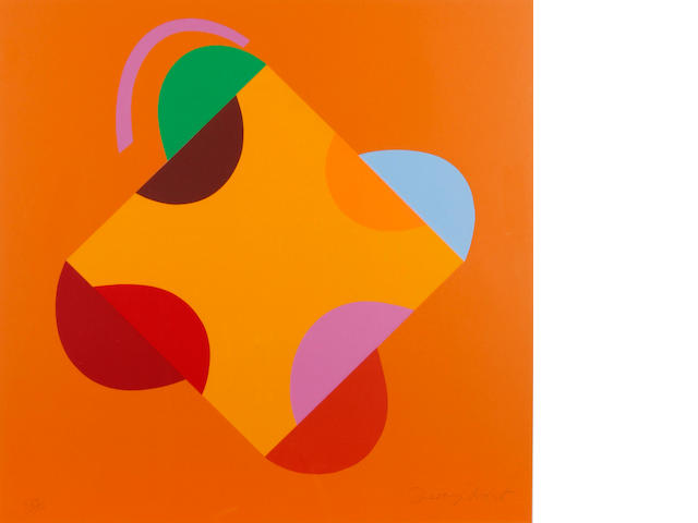 Sir Terry Frost R.A. (British, 1915-2003) Development of a Square within a Square (Orange)(Kemp 203)  Screenprint in colours, 2000, on heavy wove, signed and numbered 129/150 in pencil, printed by Coriander Studio, London, published by CCA Galleries, Tilford, the full sheet printed to the edges, 585 x 585mm (23 x 23in)(SH)