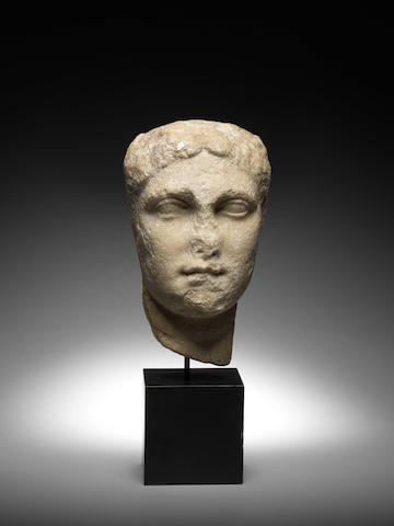 A Hellenistic marble portrait head of a woman