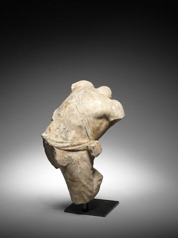 A Roman marble figure of a barbarian
