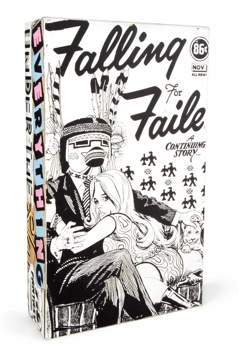 Faile (founded 1999) Faile #16 2008  screenprint and acrylic on wooden box  50.5 by 30 by 10 cm. 19 7/8 by 11 13/16 by 3 15/16 in.  This work was executed in 2008.