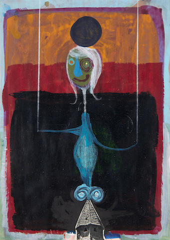 Gert und Uwe Tobias (b. 1973) Untitled 2008  mixed media and collage on paper  29.7 by 21 cm. 11 5/8 by 8 1/4 in.