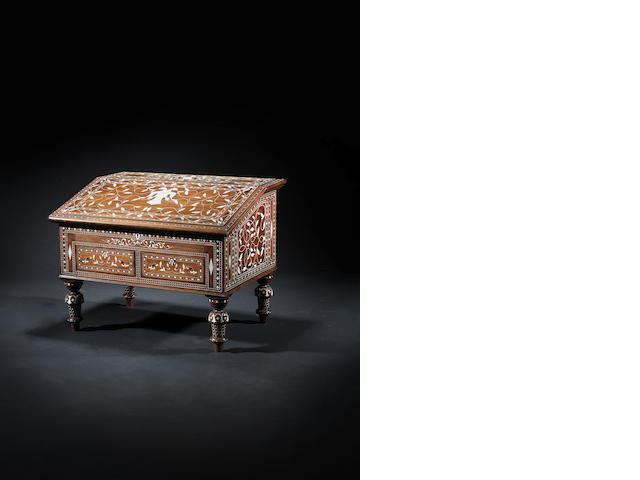 A Mysore? ivory inlaid Writing Desk Southern India, circa 1880