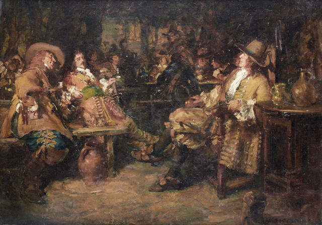 Arthur David McCormick, RI (British, 1860-1943) Cavaliers at an inn