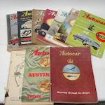 Eleven loose issues of The Autocar,