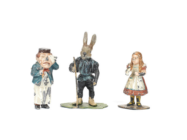 RARE, probably by Heyde, ALICE IN WONDERLAND character figures, after Tenniel 3