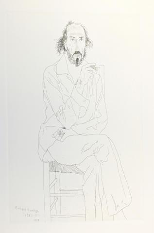 David Hockney R.A. (British, born 1937) Portrait of Richard Hamilton etching 34 x 27 cm.