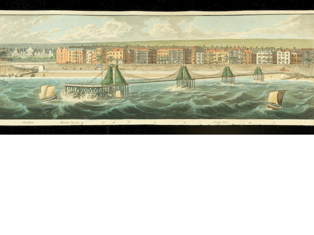 PANORAMA : Costing view of Brighton, Robert Havell Jr, April 1824