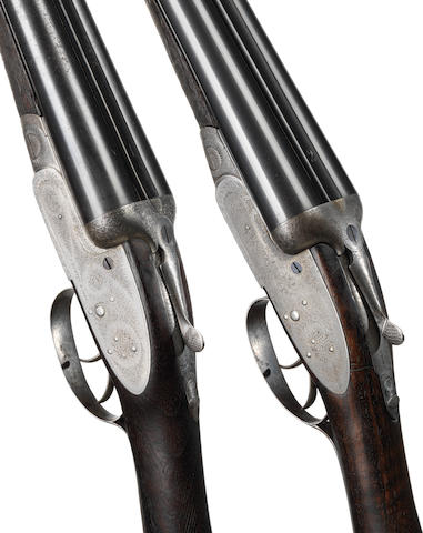 A pair of 12-bore sidelock non-ejector guns by J. Purdey & Sons, no. 11859/60