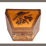 A Victorian Tunbridgeware stationary box