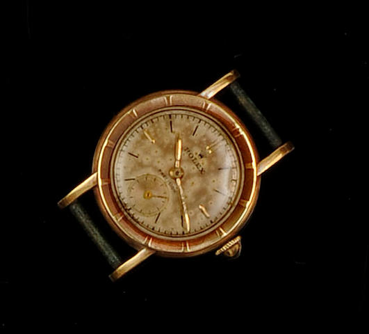 Rolex: An 18ct gold lady's wristwatch head