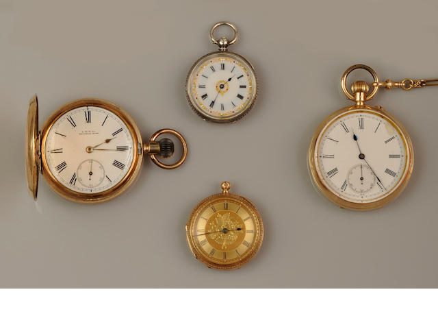 A small collection of pocket watches