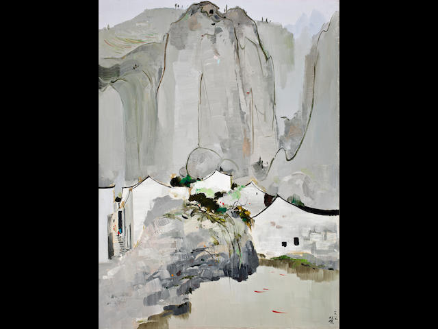 Wu Guanzhong (1919-2010) A Fish Pool in the Mountain City