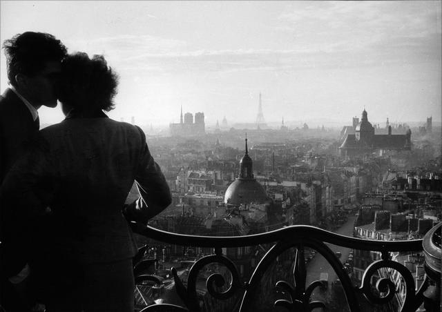 Willy Ronis (French, 1910-2009) Les Amoureux de la Bastille, Paris, 1957