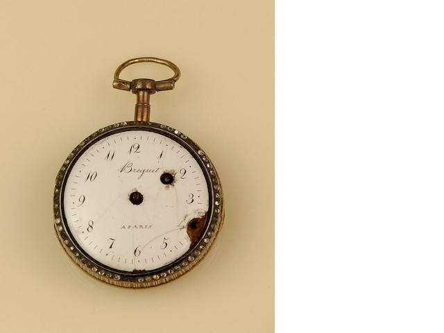 An open face pocket watch