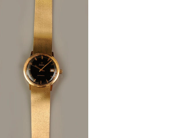 Zodiac: An 18ct gold gentleman's automatic calenar wristwatch