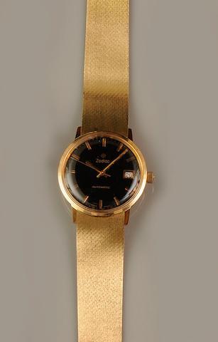 Zodiac: An 18ct gold gentleman's automatic calenar wristwatch