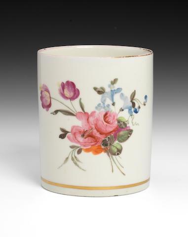 A fine Pinxton mug, circa 1796-99