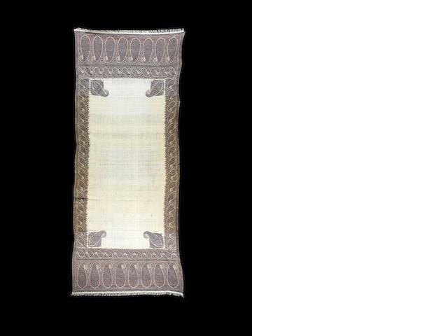 A Central Asian printed silk shawl
