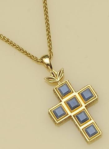 A cross pendant, by Wedgwood
