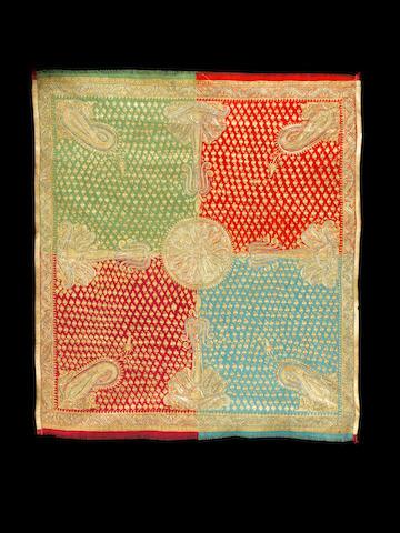 A Kashmiri moon shawl (chandor) circa 1860
