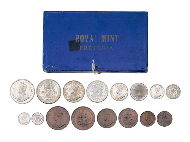 South Africa, Proof Set from Two and a half Shillings to 1/4 Penny, 1931.