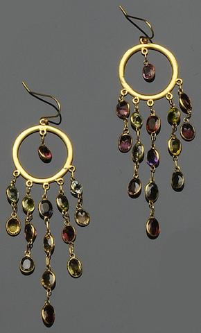 A pair of gem-set earrings